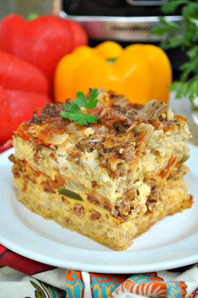 Slow Cooker Italian Breakfast Casserole