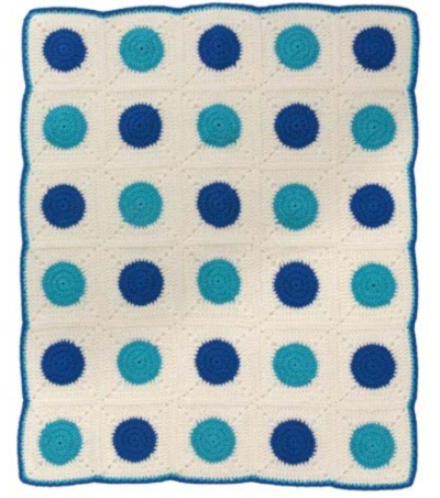 Darling Dots Crochet Afghan