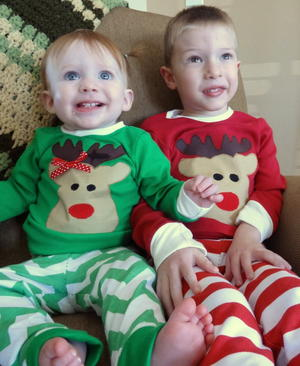 Red-Nosed Reindeer Pajama Pattern