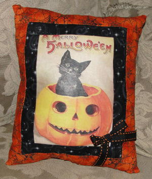 Vintage 1940s Halloween Pillow Pattern Favequilts Com