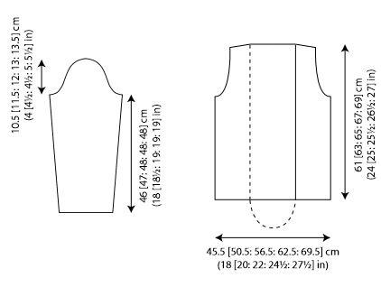 Carrara Knit Jacket Diagram