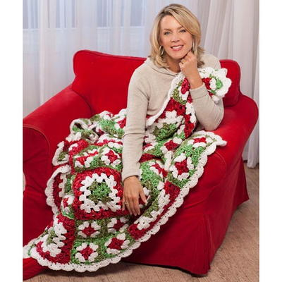 Christmas Crochet Blanket Free Pattern.41 Christmas Crochet Afghan Patterns