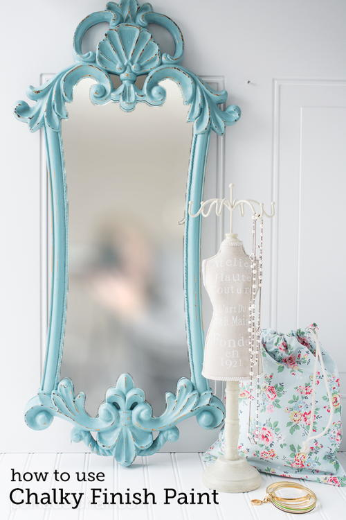 Chalky Paint Mirror Finish