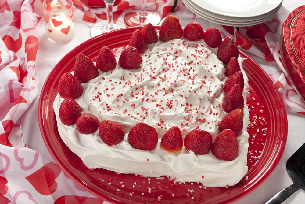 Strawberry Sweetheart Cake Mrfood Com
