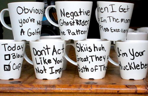 Funny Painted Groomsmen Mugs