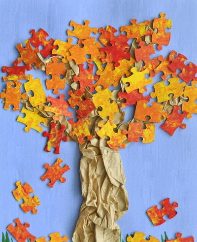 Fun Fall Puzzling Tree