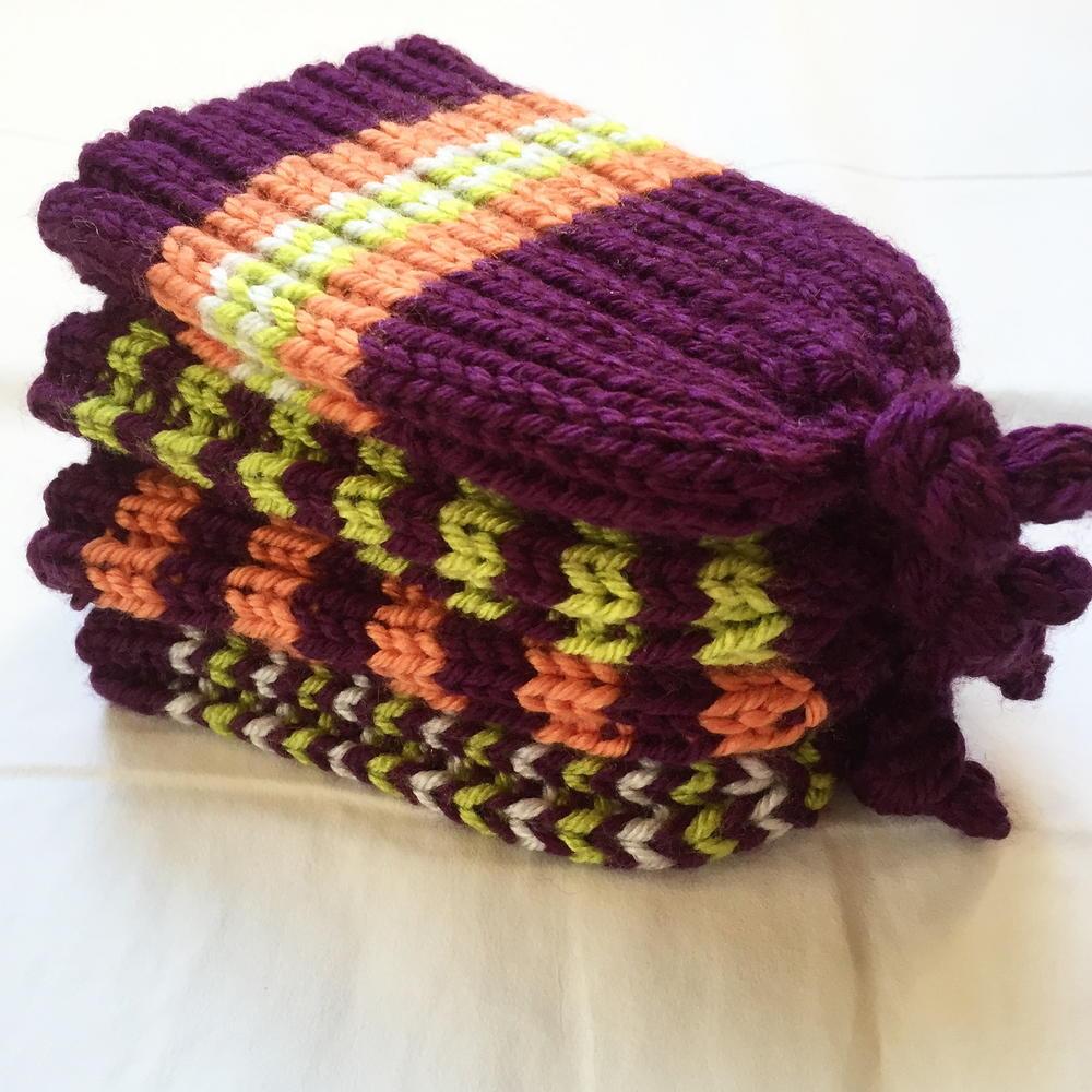 Loom Knit Rib Stitch Hat : Skinny Rib Stretchy Baby Hat AllFreeKnitting.com