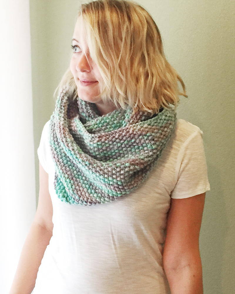 Free Knitting Patterns For Scarves Pinterest : Winter Seeds Cowl AllFreeKnitting.com