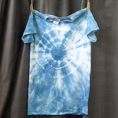 Single Color Bullseye Tie Dye Shirt