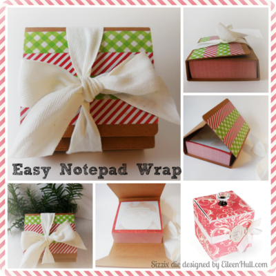 Handmade Holiday Notepad