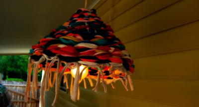 Scrappy Homemade Lamp Shade