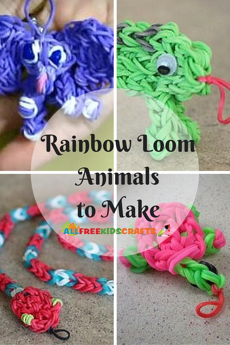10  rainbow loom animals to make  easy rainbow loom charms