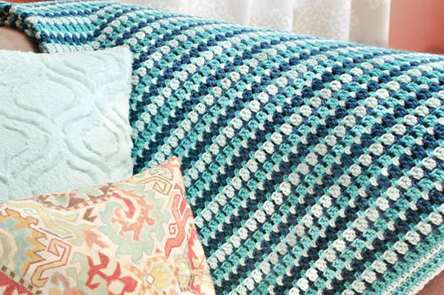 Simple Sea Glass Crochet Afghan