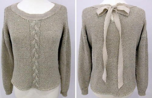 Braid-N-Bow Handmade Sweater