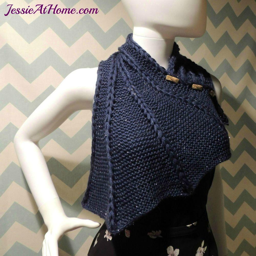 Cowl Vest Knitting Pattern Free : Dragon Wing Cowl AllFreeKnitting.com