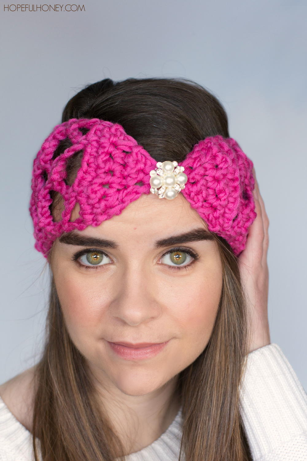 Free Crochet Pattern Mens Headband : Lacy Lattice Headband AllFreeCrochet.com