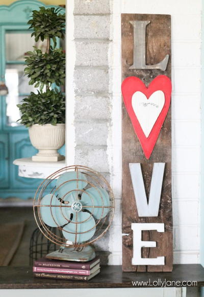 Cute Rustic Love Barnwood Sign