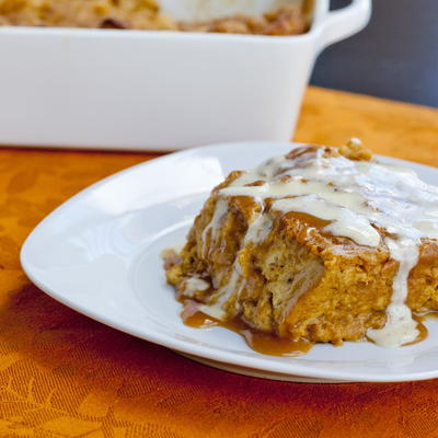 Pumpkin Brioche Bread Pudding