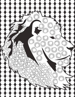 leo the lion adult coloring page how regal with this lion coloring book page you can show off your coloring skills with pride