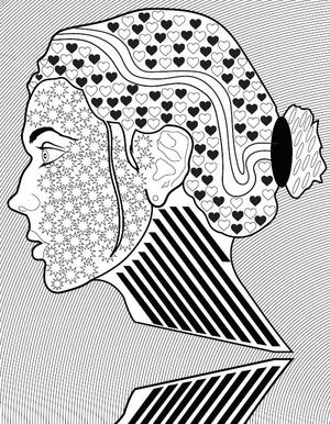 Perfect Profile Adult Coloring Page