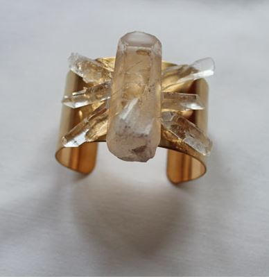 Rough Cut Crystal Statement Cuff