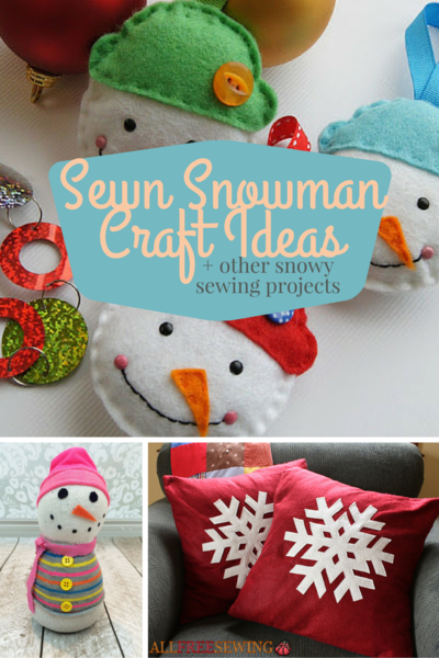 15 sewn snowman craft ideas and other snowy christmas for Easy sewing projects for craft fairs