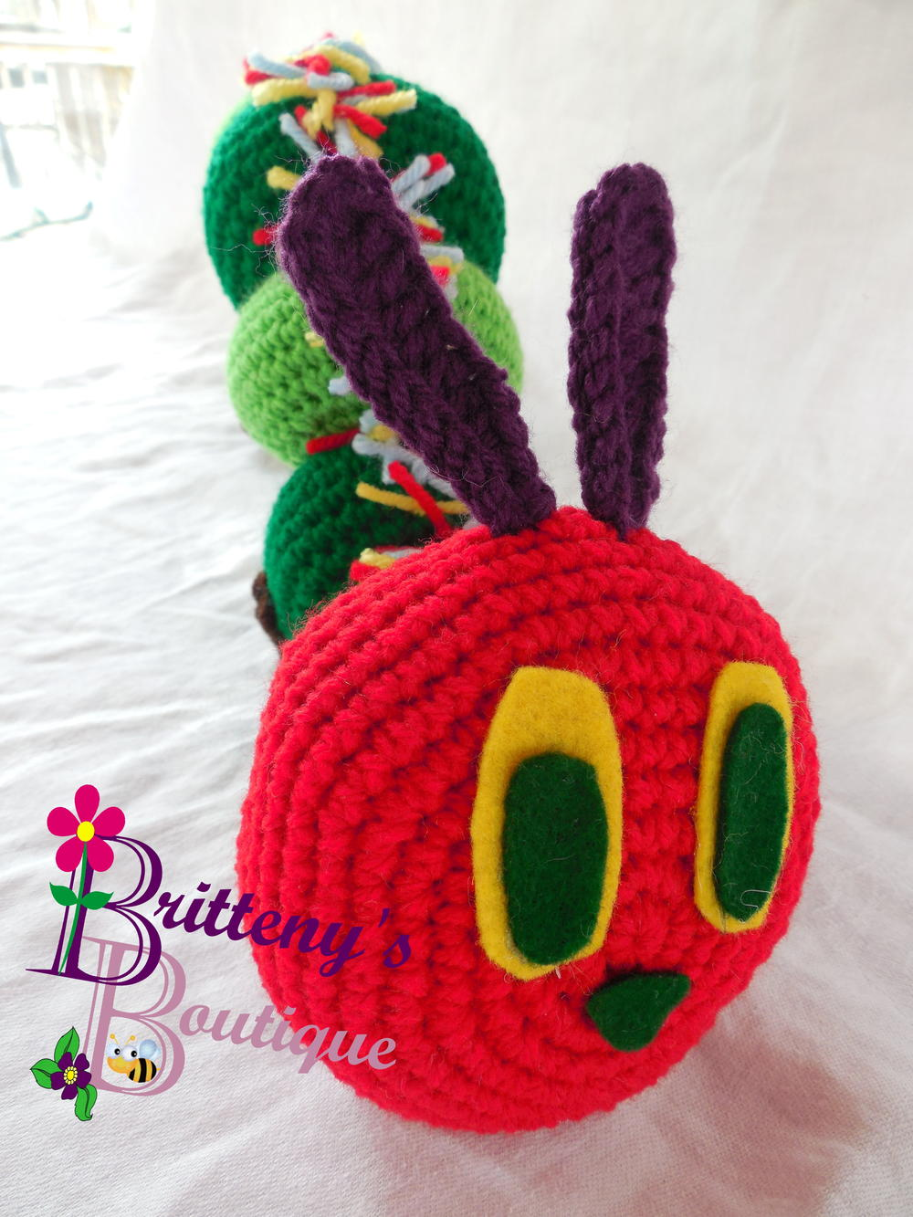 Very Hungry Caterpillar Crochet Hat Pattern Free : Hungry Catapillar AllFreeCrochet.com