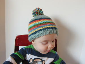 Crazy Cute Striped Baby Hat
