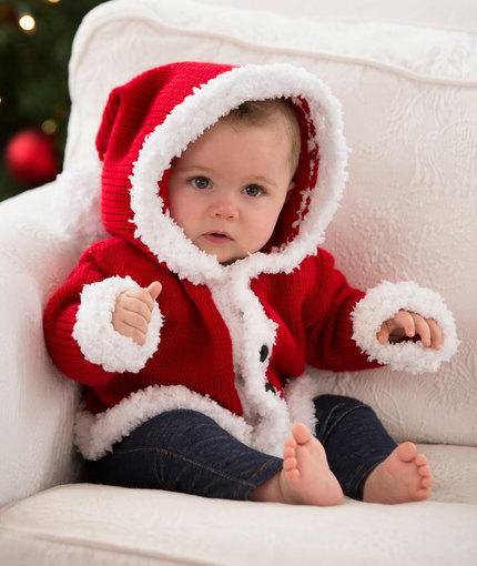 Super Sweet Santa Baby Sweater Allfreeknitting Com