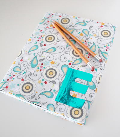 Foil Monogram Notebook