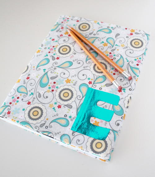 Foil Monogram Notebook