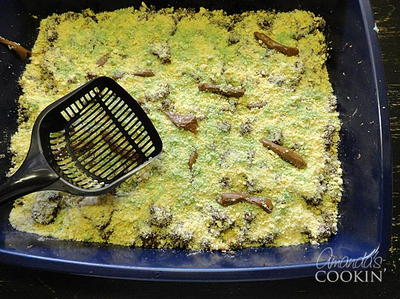 Halloween Party Kitty Litter Cake