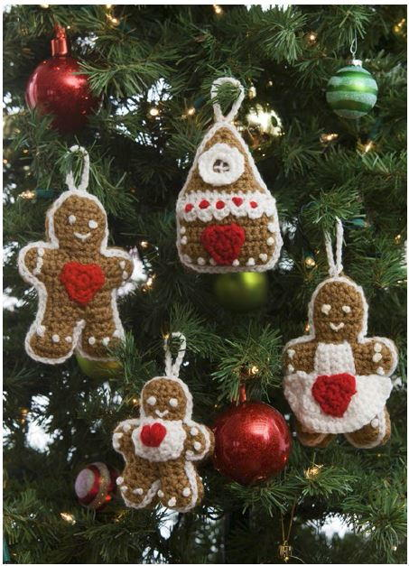 Gingerbread Crochet Ornaments