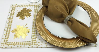 Gold Leaf Placemat Pattern