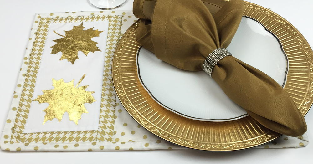 Gold Leaf Placemat Pattern Allfreesewing Com