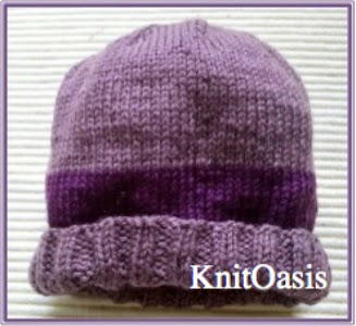 Precious Purple Knit Beanie
