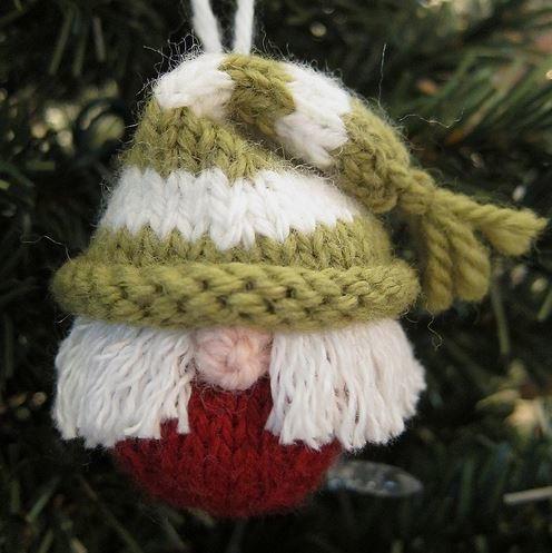 Knit Elf Ornament   AllFreeHolidayCrafts.com
