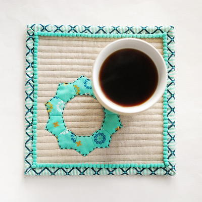 Winter Hues Mug Rug Pattern