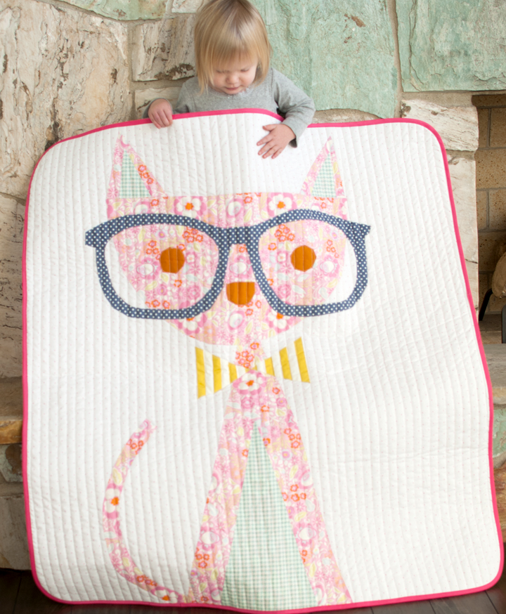 Hip Kitty Lap Quilt Pattern Favequilts Com