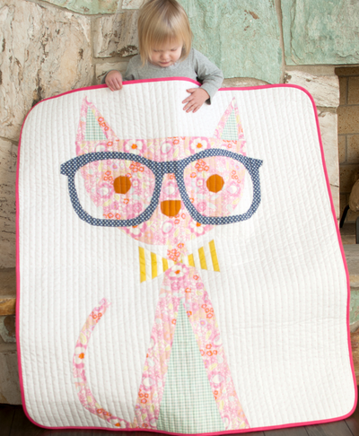 Hip Kitty Lap Quilt Pattern
