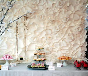 Create Simple Wedding Backdrops With Flowers Cascading Paper Flower Backdrop