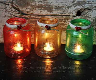 Glittery Christmas Luminaries