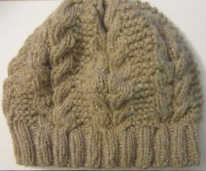 Horseshoe Slouchy Cable Hat