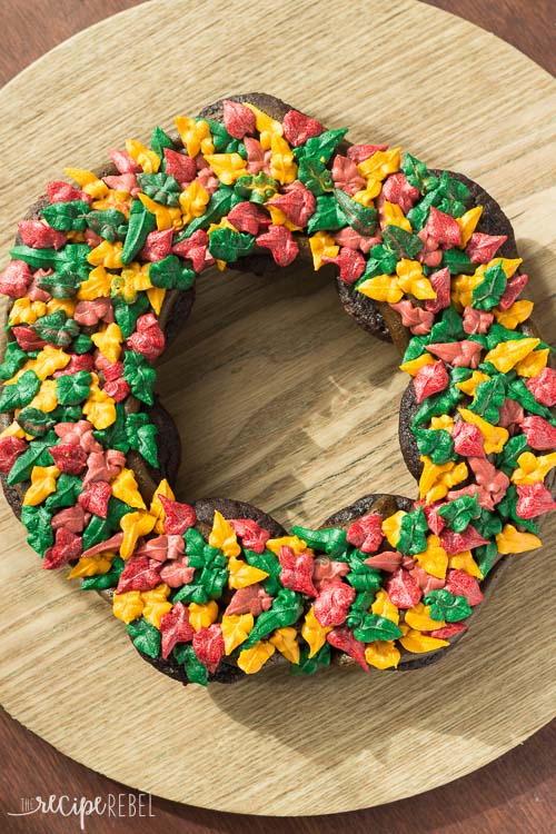 Fall Wreath Cupcake Cake Thebestdessertrecipes Com