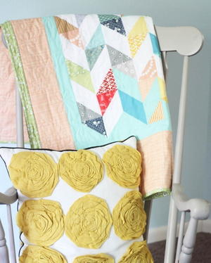Tumble of Triangles Baby Quilt