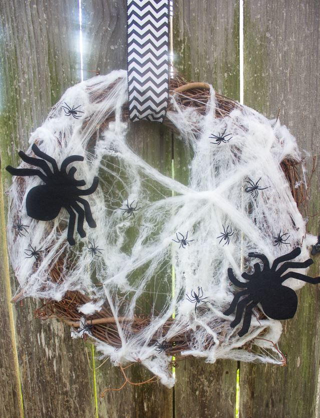 5 minute halloween wreath