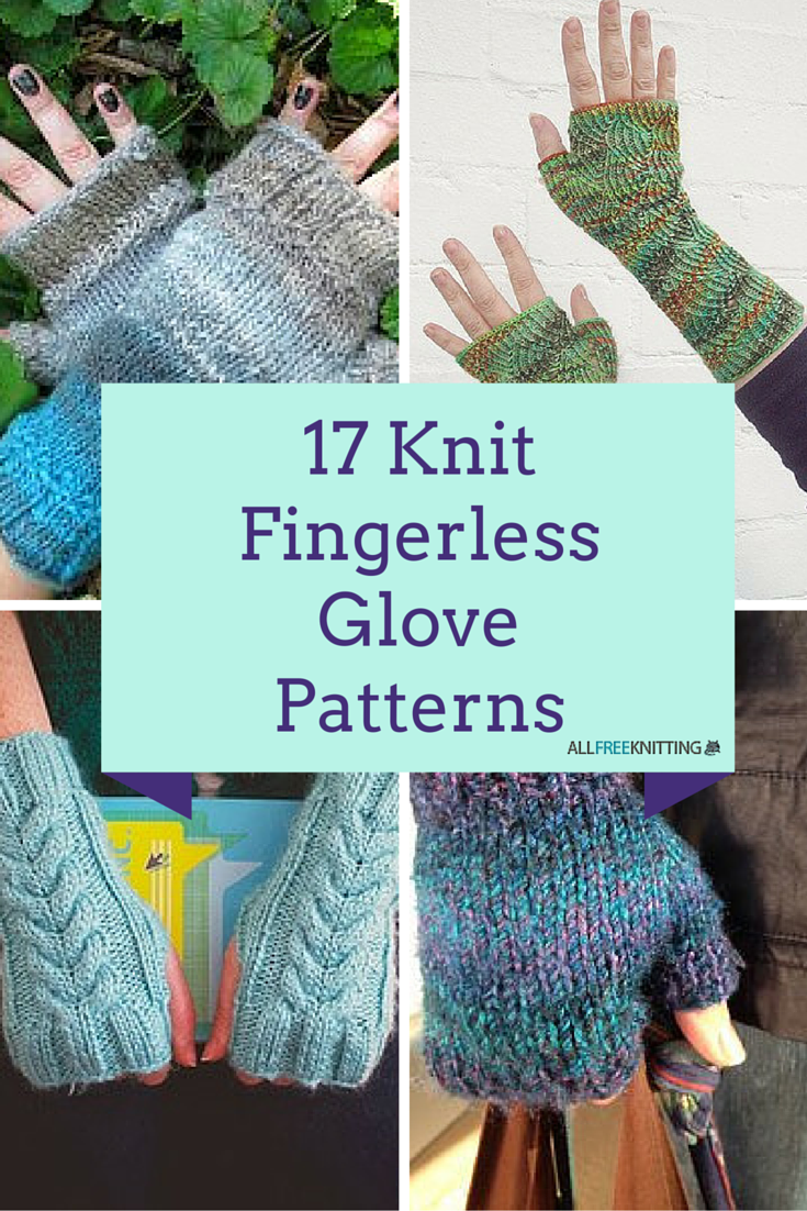 17 Knit Fingerless Glove Patterns | AllFreeKnitting.com