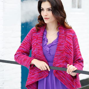 Cocoa Free Wrap Style Cardigan Knitting Pattern