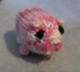 Crazy Cute Knitted Pig