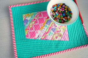 Scrappy Quilted DIY Placemats